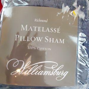 nip Williamsburg matelasse euro pillow sham